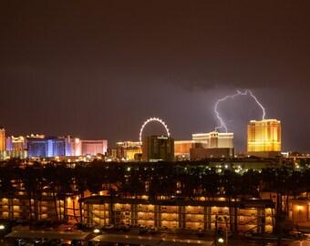Lightning, Las Vegas Strip, Palazzo, Venetian
