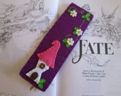 Felt Bookmark with Fairy Cottage -  Ready to ship-  Gift for readers  - Christmas Gift - For teachers - For Children