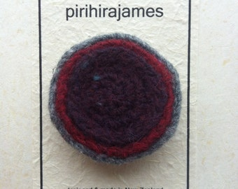 Circle Lapel Pin :  a soft felted brooch