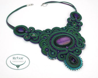 "Soutache Necklace ""Pavetta"""
