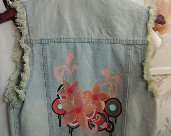Retro Style Jeans Vest
