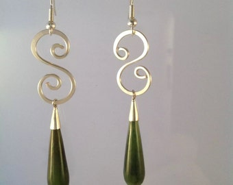 Silver wire wrapped earrings