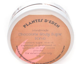 190g chocolate body scrub