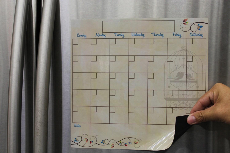 Dry Erase Calendar Canada : Dry erase calendar magnetic calendars by