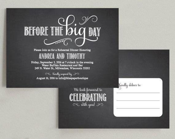 Pre Wedding Dinner Invitation: Wedding Rehearsal Dinner Invitation Printable Postcard