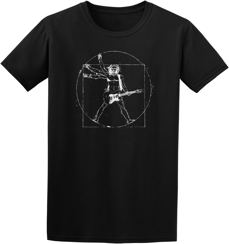vitruvian man guitar player funny t shirt music humor tee. Black Bedroom Furniture Sets. Home Design Ideas