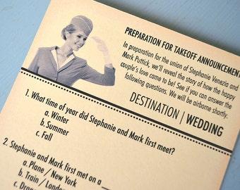 Travel Themed Bridal Shower Games, Ice Breaker Quiz, DIY Printable File