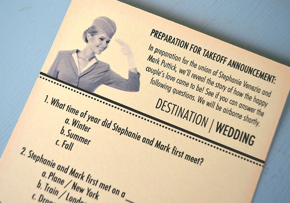 Travel Theme Bridal Shower Ice Breaker Quiz DIY Printable