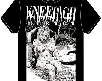 KneeHigh Horror Shirt & Standup Lot