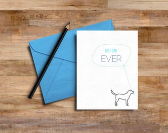 "PRINTABLE Father's Day Card / ""Best Dad Ever"" / Instant Download"