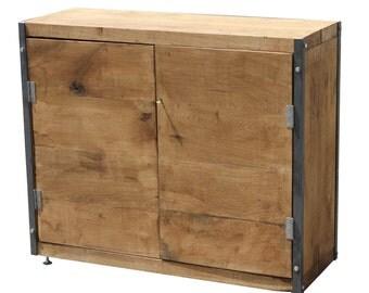 LARGE INDUSTRIAL Solid Oak Cabinet/Cupboard