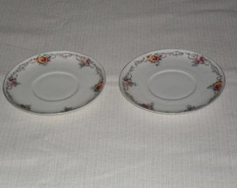 Hutschenreuther Hohenberg Bavaria 1814 1914 porcelain teacup plates x 2 .