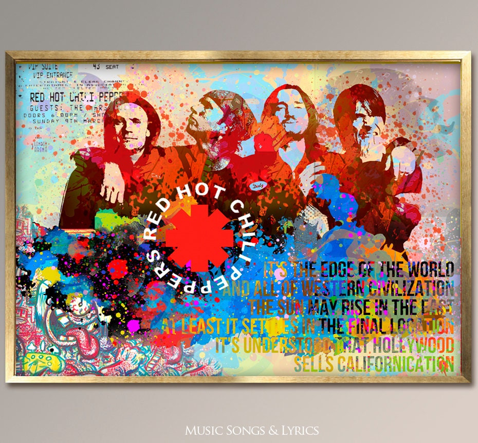 red hot chili peppers red hot chili peppers poster rhcp art. Black Bedroom Furniture Sets. Home Design Ideas