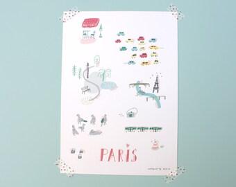 """A4 poster / """"Paris"""""""