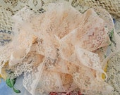 "5 Yards Very Light Peach 1"" wide Lace, Scrapping, Crafting, Sewing, Altered Art, Mixed Media   #41"