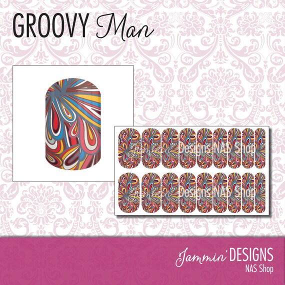 Groovy Man NAS (Nail Art Studio) Design