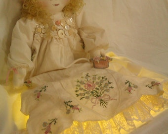 GUISEPPA.... our Antique handmade cotton DOLL