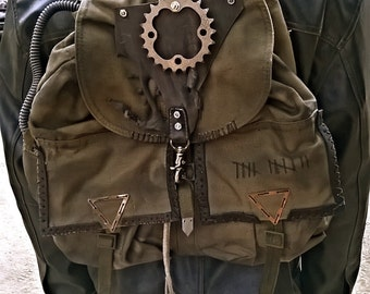 Nomad post apocalyptic Backpack inspired by Fallout / Mad Max for Burning Man / Wasteland Weekend