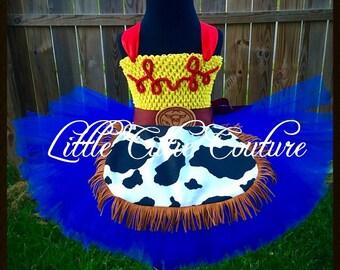 Cowgirl Jessie Inspired Tutu Dress, Toy Story Tutu, Jessie Party Dress