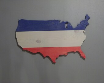 Handmade Wood USA Wall Hanging