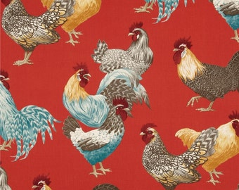 Valance Roosters/Chickens  / Custom Boutique Window Curtain Valance / Kitchen, Bath, Bedroom, Nursery Window Treatment