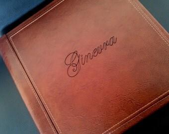 Personalized Genuine Leather Photoalbum / Wedding / Family / Memories / Travel / Annyversary / Scrapbook / Photography / Italian Leather