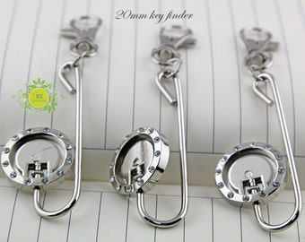 5 Key Finder-Key Chain Purse Hook with 20mm cabochon base-Purse Key Finder-Purse hook-Bag hanger