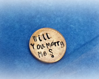 Pop the question marriage proposal idea, Will you marry me engagement ideas  - Choose a US Penny, Nickel, Dime or Quarter!