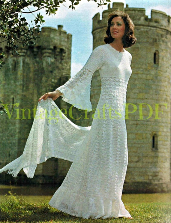 Wedding dress crochet pattern stole wrap stunning by for Angel wings wedding dress