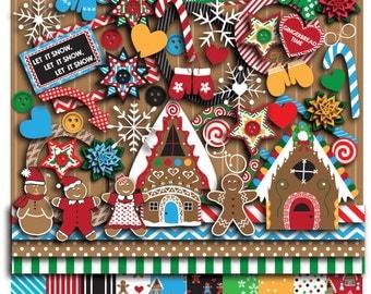 Gingerbread Christmas Digital Scrapbooking Kit