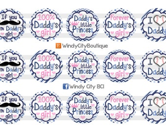 Daddy's Girl Bottle Cap Images