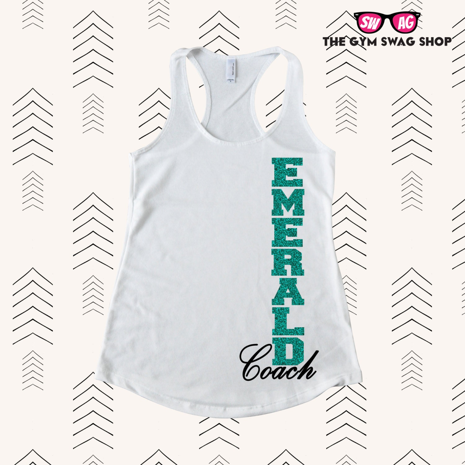 NEW Emerald Coach Rank Tank™ French Terry Racerback Tank