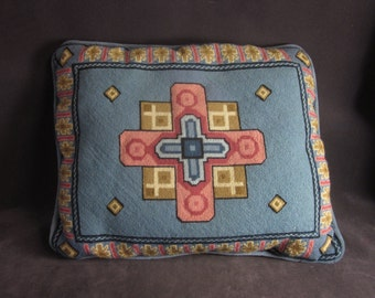 Medium Handmade Vintage Embroidered Pillow
