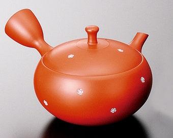 Tokoname Pottery : HOKURYU - Japanese Kyusu tea pot 310cc Ceramic Mesh