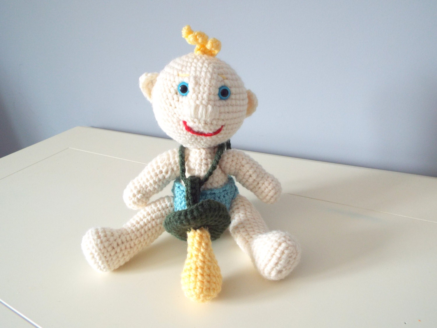 Crochet baby doll stuffed toys amigurumi pacifier home ...