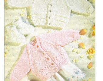 cardigans and bootees 4 ply knitting pattern 99p pdf
