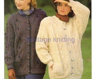 womens aran jackets knitting pattern 99p pdf