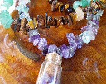 Amethyst Treasure Bottle ~Healing Necklace