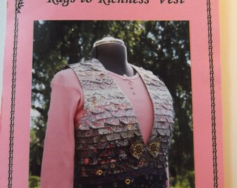 Dakota Rose Rags to Richness Vest Unused Pattern #9505 Uncut Quilting Project Pattern