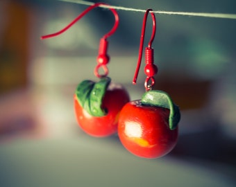 Fruit Earrings from Polymer Clay.