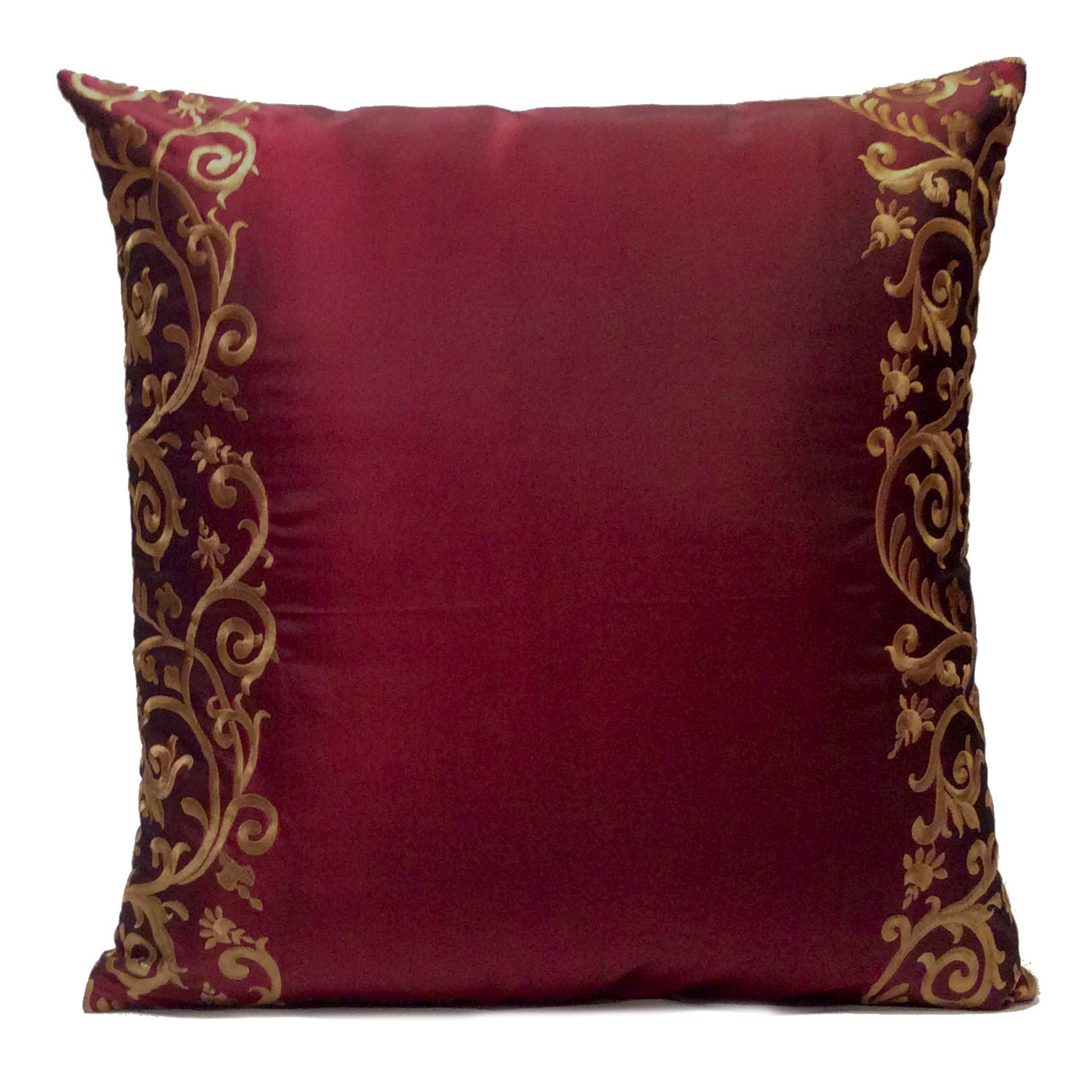 Burgundy Pillow Throw Pillow Cover Decorative Pillow Cover