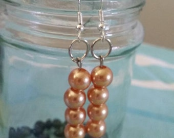 Pearlescent brown/gold /fawn/bronze  earrings