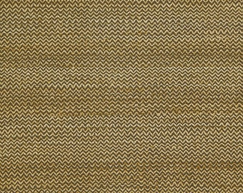 SCHUMACHER CHEVRON ZIG Zag Hand Spun Raw Silk Fabric 10 yards Brown Cream