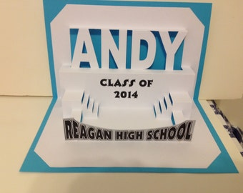 Graduation Pop Up Card Personalized