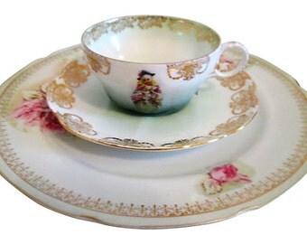 Rose Garland Dessert Set, 3-Pcs