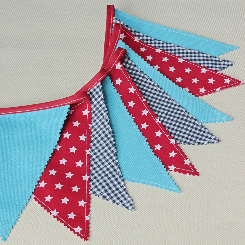 Guirlande fanions chambre b b banderole d coration enfant for Guirlande tissu chambre bebe