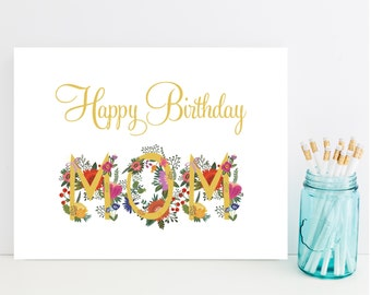 Mom Happy Birthday Card - Fast Birthday Card for Mom