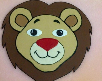 Lion 2D Cake Topper Fondant , Birthday Party