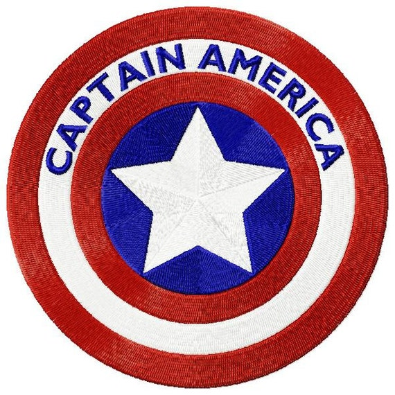 Captain America Logo Machine Embroidery Design By
