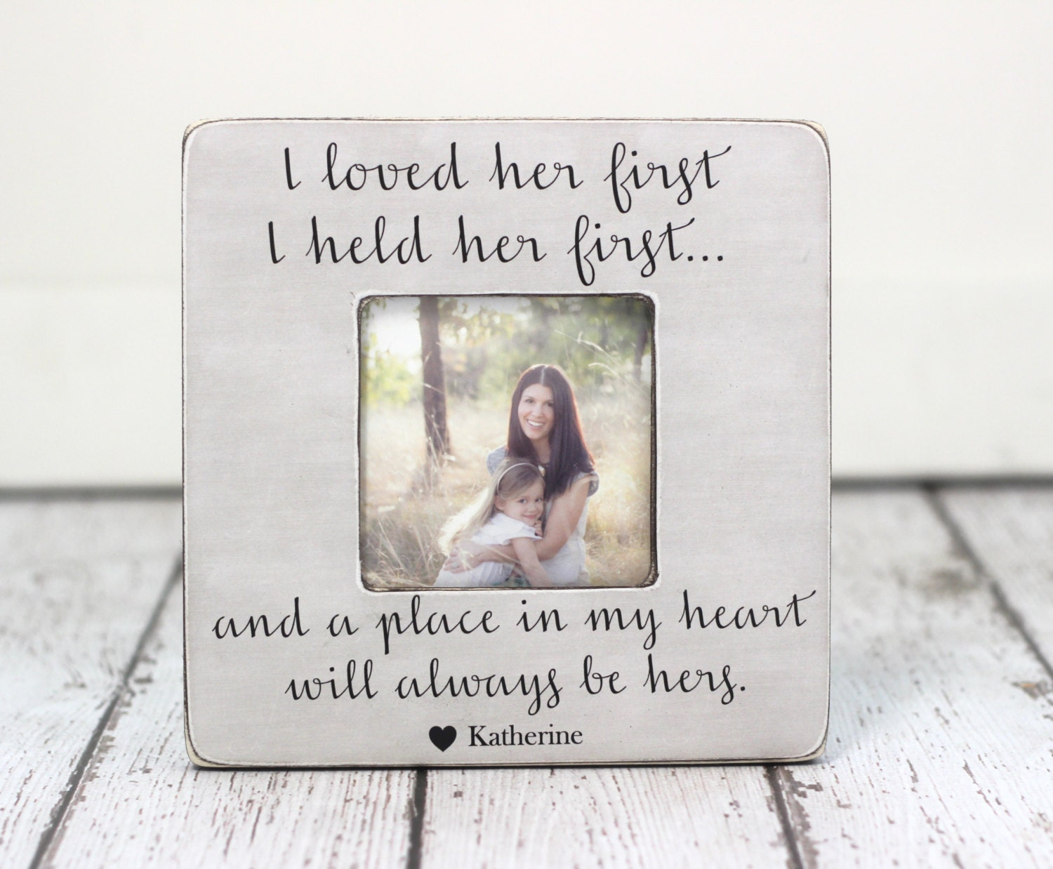 Mom Gift Picture Frame Lyrics I Loved Her First Personalized